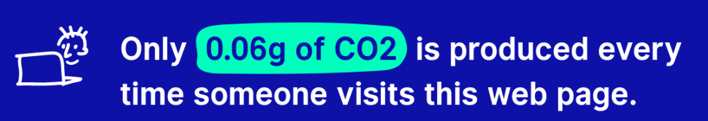 Analyse des website carbon calculators mit einem Ergebnis von 0,06 g